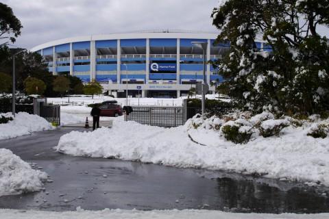 雪のマリンスタジアム